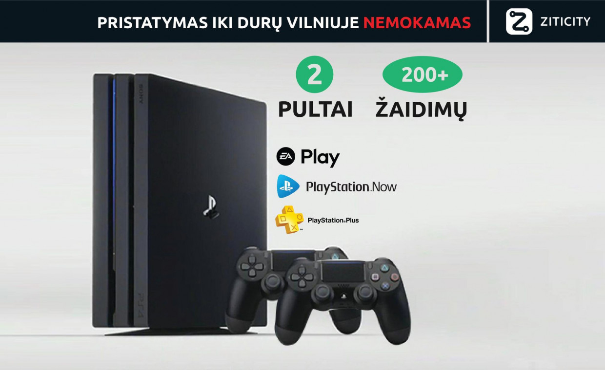 Gaming consoles for rent, Playstation 4 PS4 rent, Vilnius