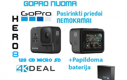 GoPro Hero 8 Black with 128 GB storage