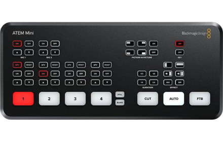 BlackMagic Atem Mini Switcher'is